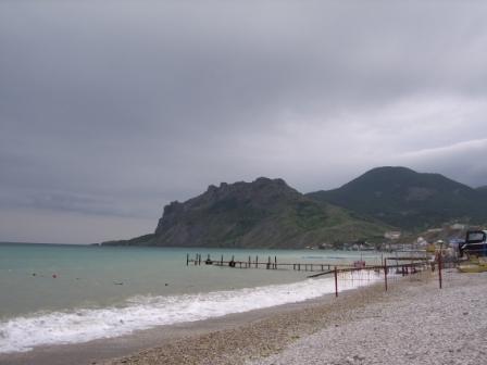 Пляж и  КараДаг