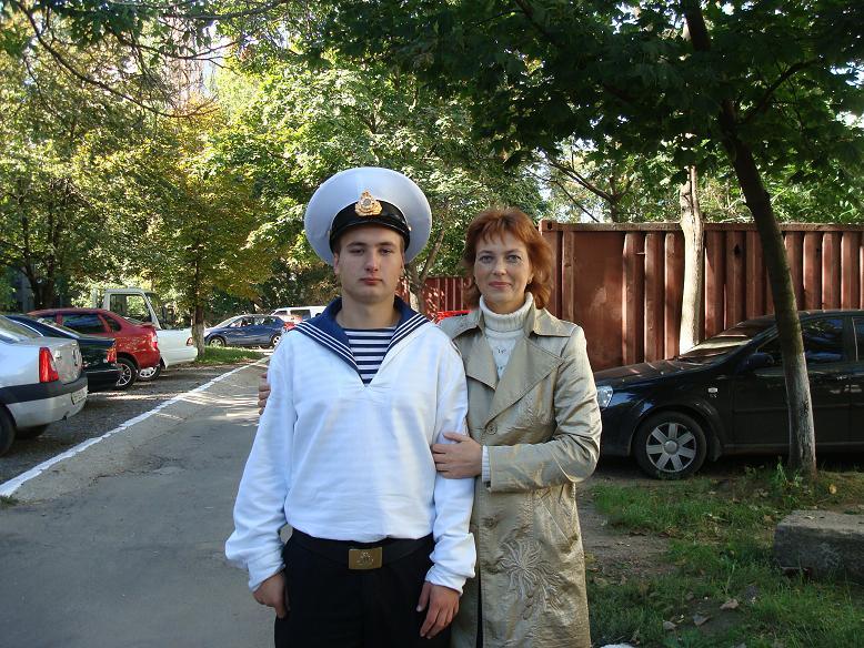 Я и мой сынок - курсант.