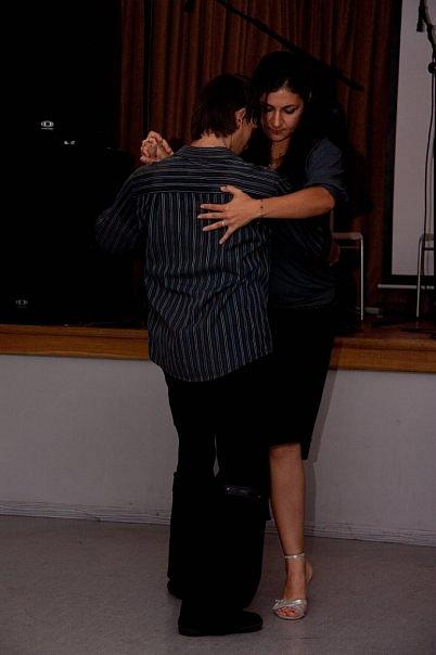 мои первые пробы на вечере танго