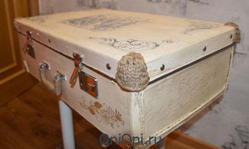 Реставрация чемодана своими руками