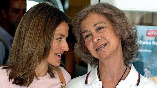 Две испанских королевы София и Летисия (нынешняя  королева)