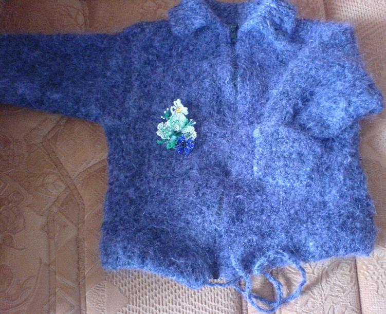 Вязание букле спицами для новорожденных