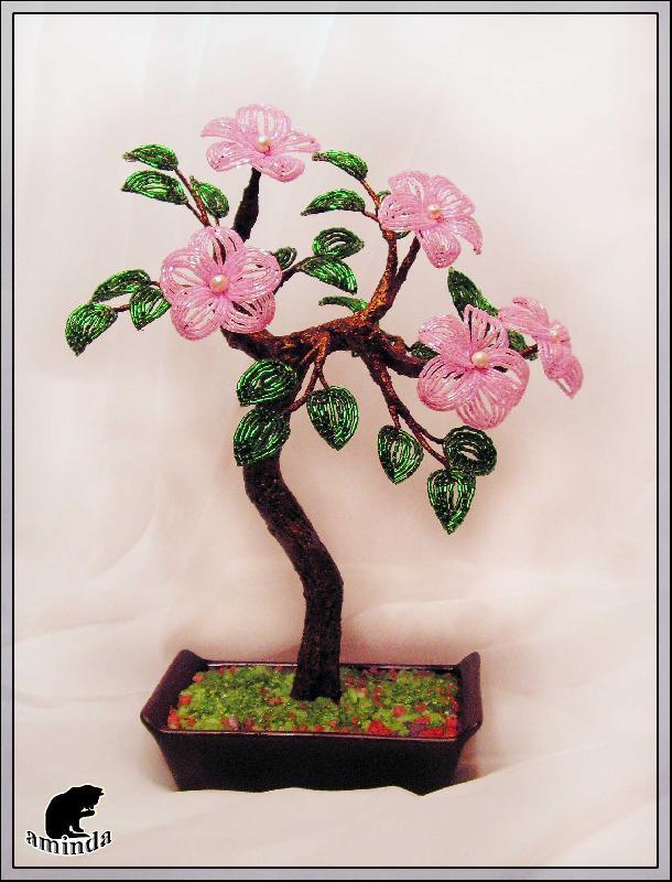 Как сделать деревья и цветы из бисера