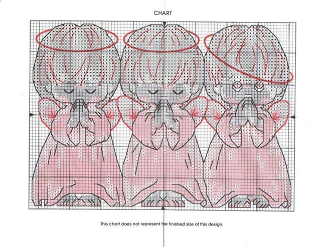 три ангела вышивка и схема