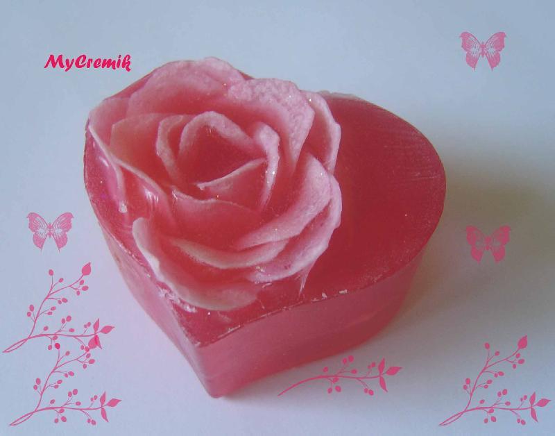 Мыло своими руками с розами 591