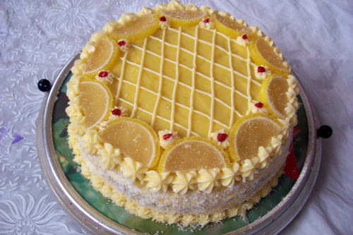 рецепт торта из лимонов с фото