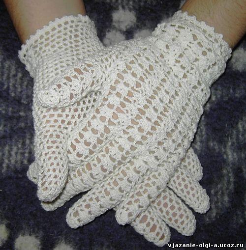 вязание ажурных перчаток
