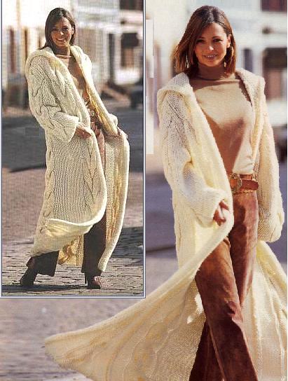 стильные вязаные пальто, фото и схемы.  411x544stylemoda.tk.