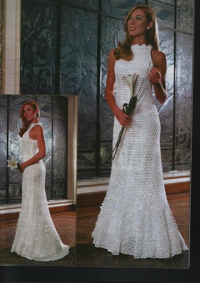 Свадебные платья вязанные