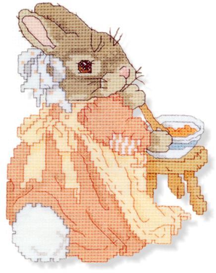 """Схемы вышивок крестом  """"Bunny """" (зайчики и кролики) ."""