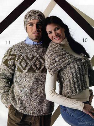 спицамиру. вязание мужского свитера спицами.