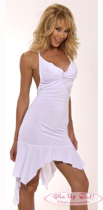 платье в пол из трикотажа