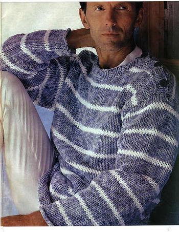 как связать мужской свитер спицами, рисунок на кофту и вязаный.