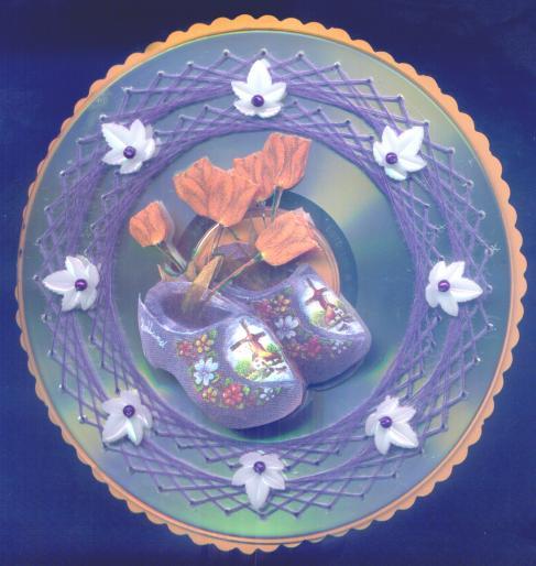 Изонить: Схемы для вышивки на CD-дисках.