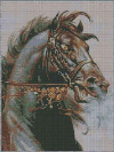 Вышивка крестом схемы бесплатно кони - Всё про вязание здесь.