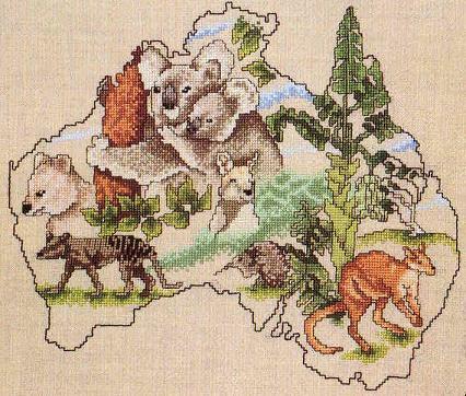 Оригинал - Схема вышивки Koala