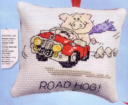 Называется Road hog и это действительно М.Шерри Схема в РМ. подскажите, где-то видела схему - там свинья за рулем...