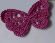 Вязание крючком бантик бабочка