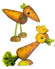 Животные поделки из картофеля и моркови своими руками