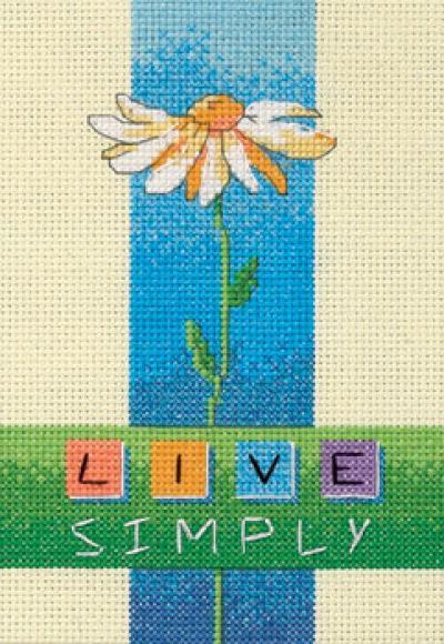 Описание: Схема для вышивки крестом из набора Dimensions 06975 Live Simply в формате xsd.  Метки. крестом. крестиком.