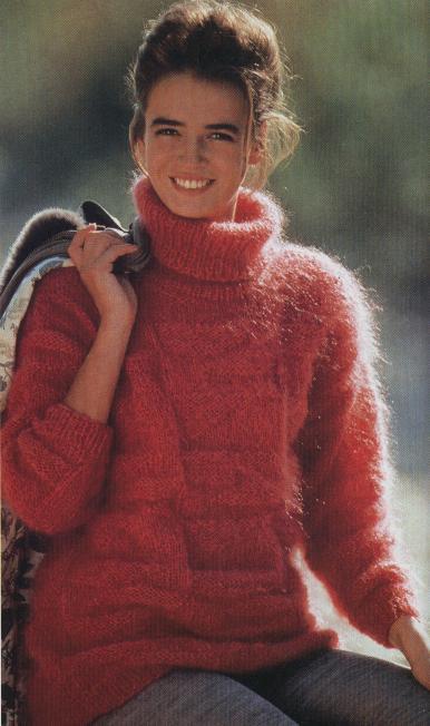 Ирочка: свитер из мохера.