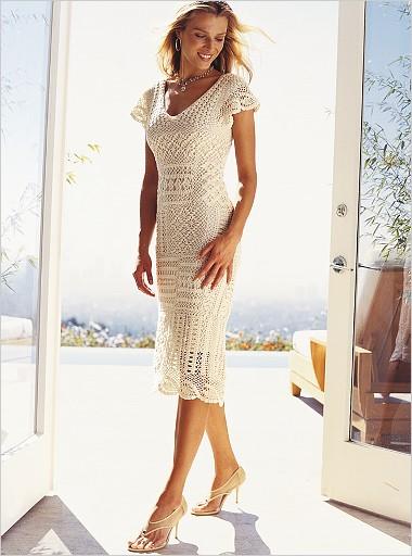 платье, вязаное платье, белое платье