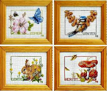 Вышитые картины, изделия из бисера и бусин, вязанные изделия, купить Marjolein Bastin, Миниатюры времена года, 33847.