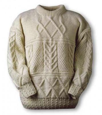 Мужской свитер спицами 6