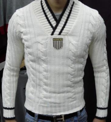 необычный мужской свитер крупной вязки - Сумки.