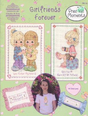 """Gloria&Pat PM 62: Girlfriends Forever - буклет со схемами для вышивки крестиком  """" Девочкам.com - Портал для девочек."""