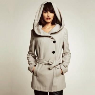 пальто с капюшоном женское в