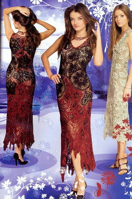 платье крючком платья вязанные крючком схемы фото. платья вязанные