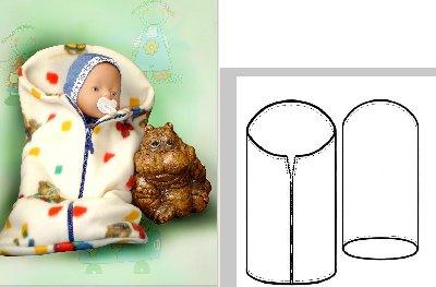 Комментарий: Выкройка конверта для новорожденного