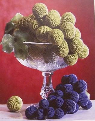 Часть... пишет: Вязаный виноград (вязание крючком, схемы) Подборка схем и описаний вязаного винограда.