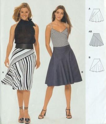 модели юбок для полных выкройки