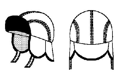выкройка мужской шапки ушанки норд.