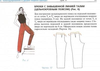 Как сделать выкройку брюк уже