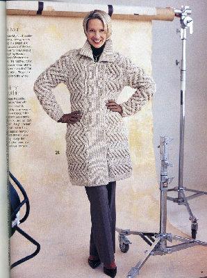 Пальто для прохладного вечера.  Описание работы и схемы:, Пальто.