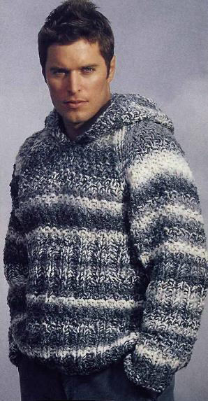 свой цитатник или сообщество!  Мужской пуловер с капюшоном.  Прочитать целикомВ.
