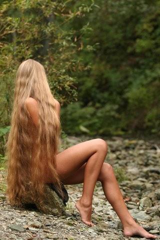 Русые волосы девушки голые фото